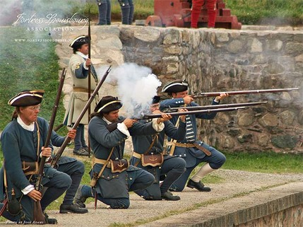 Fortress Louisbourg soldiers in Sydney NS Canada