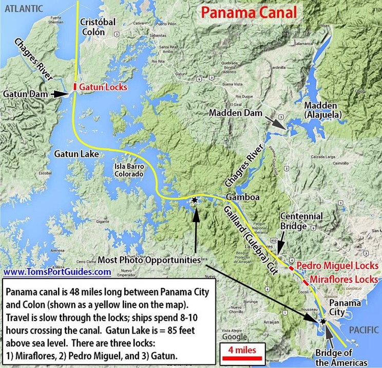 Panama Canal Cruises Toms Port Guides – Panama City Tourist Map