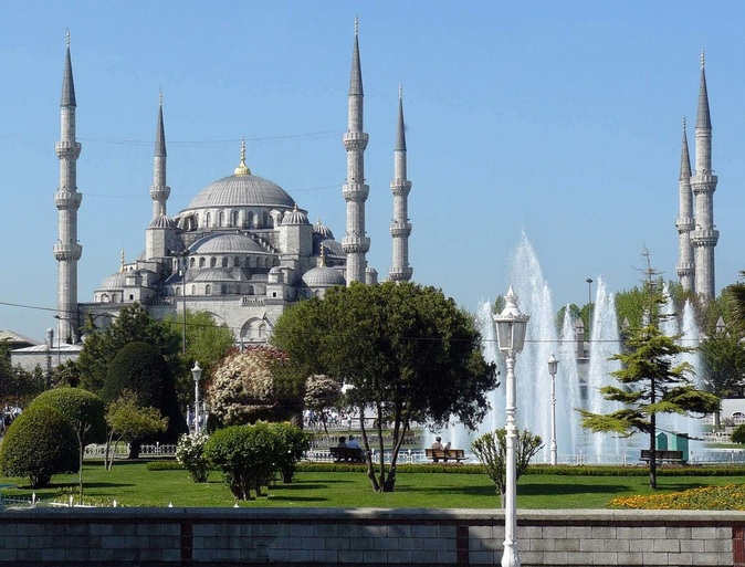 Istanbul, Turkey Blue Mosque photo outside